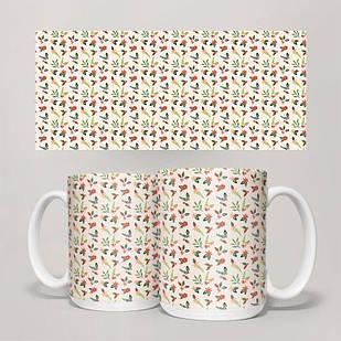 Чашка, Кружка Цветы №11 (растения, цветы, флора, узоры)
