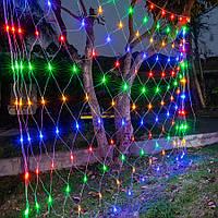 Гирлянда Сетка светодиодная — 240-LED, 2х2 м цвет разноцветный