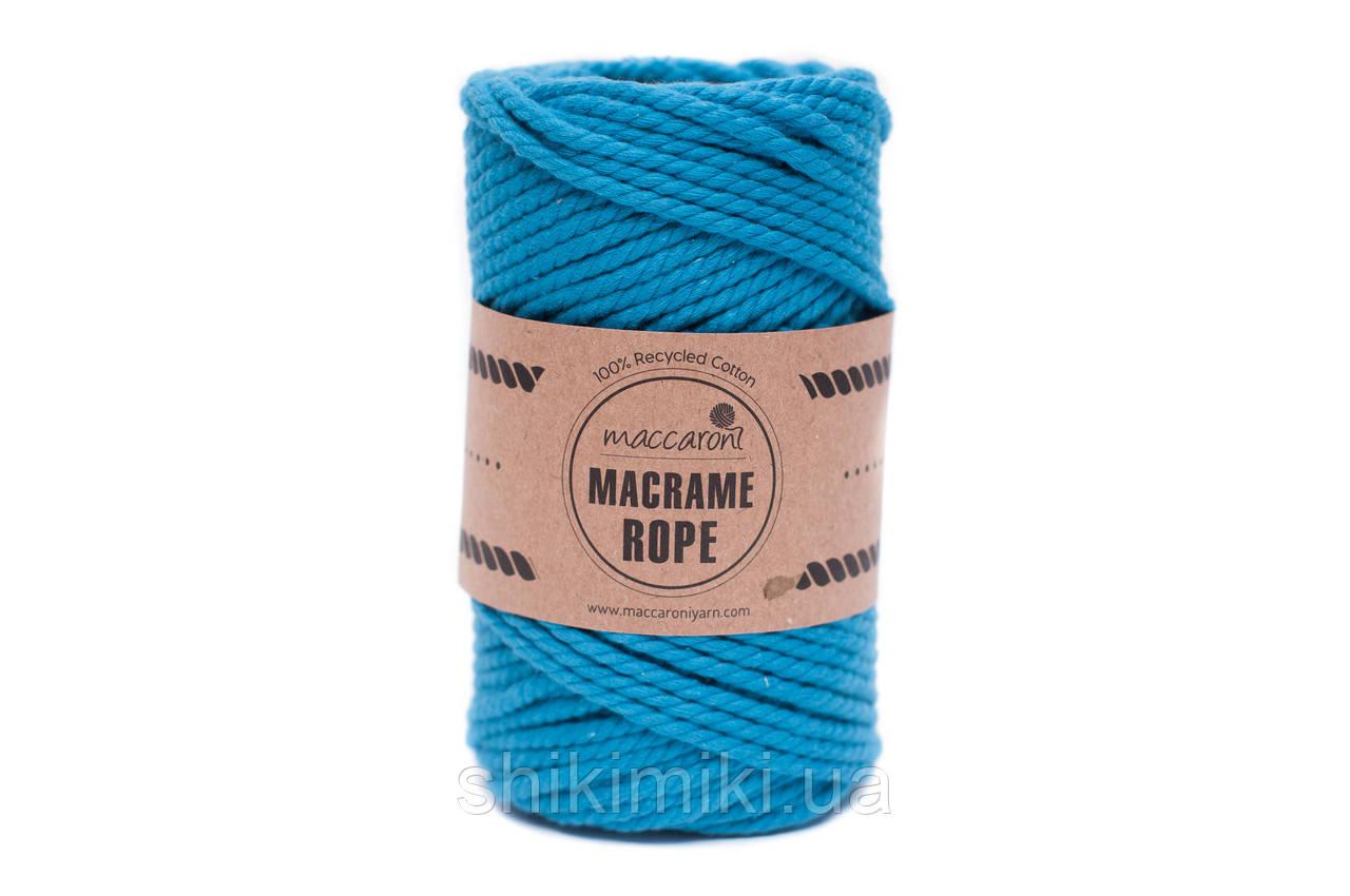 Эко шнур Macrame Rope 4mm, цвет Циан