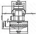 Двигатель моющего пылесоса d66,5 h111,5, фото 2
