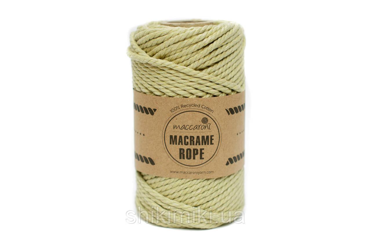 Эко шнур Macrame Rope 4mm, цвет Оливка