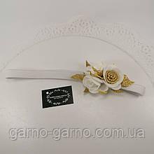 Біла пов'язка Прикраса для волосся, пов'язка з квітами