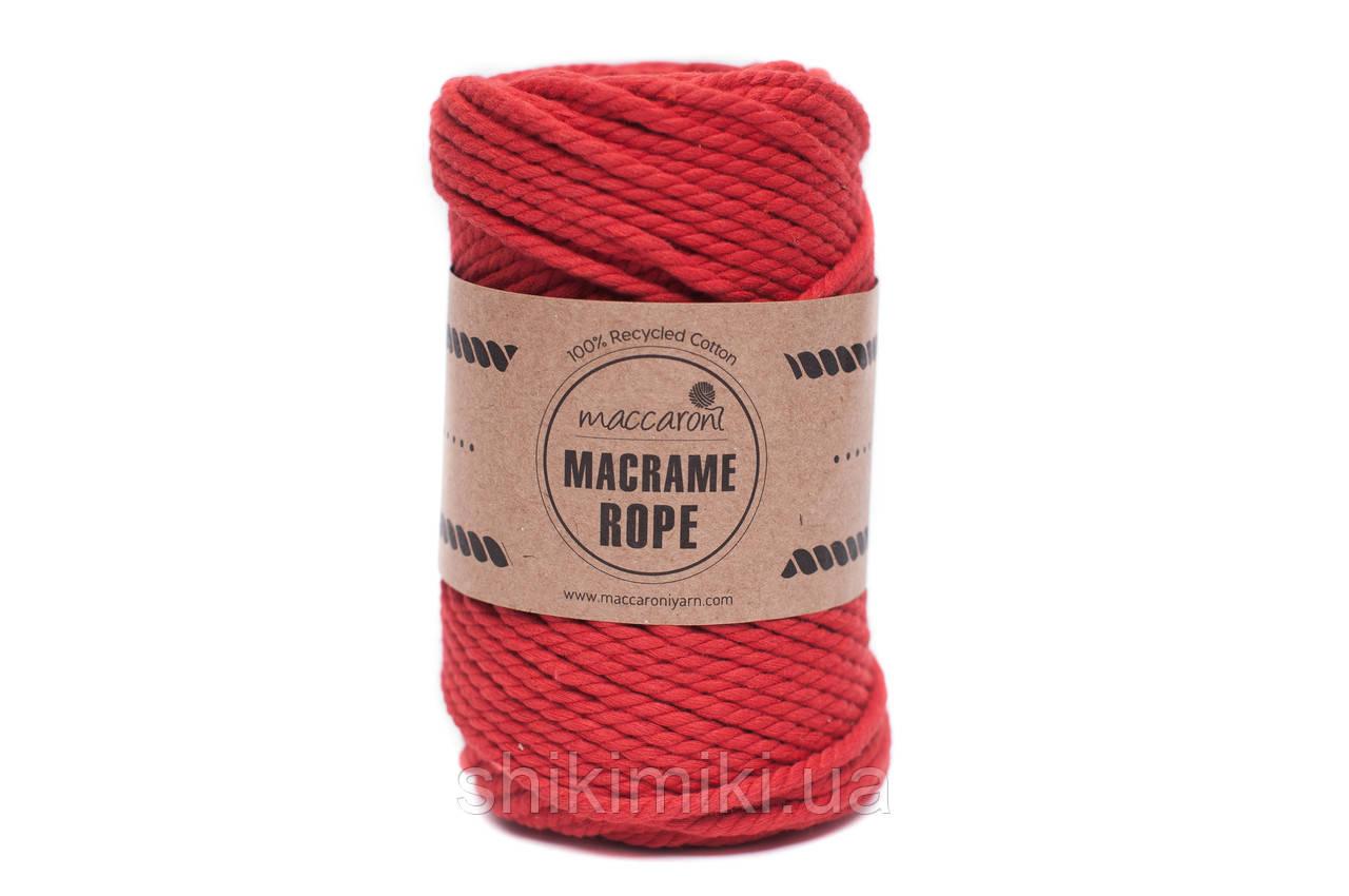 Эко шнур Macrame Rope 4mm, цвет красный