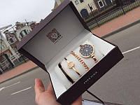 Подарок для Девушки! Набор Anne Klein Часы/Браслет/Цепочка