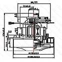 Двигун миючого пилососа d106 h104, фото 2