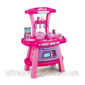Детский игровой набор кухня. Звуковые и световые эффекты. Плита, духовка чашки, тарелки. 16694B