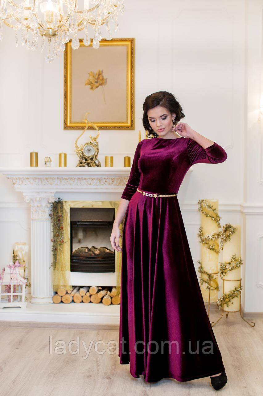 """Платье """"Лада""""бордо"""