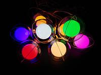 "Гирлянда Бахрома, занавес ""Прозрачный шар с шаром""  на прозрачном проводе 2,5х0,8х0,6м, цвет разноцветный"