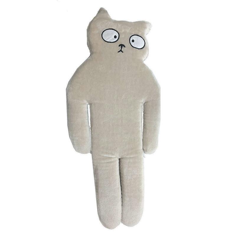 Игрушка-подушка, Кот, средний, бежевый