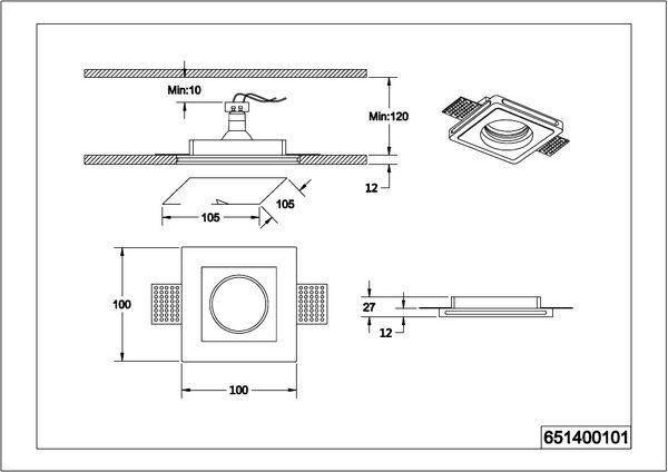 Точечный светильник Trio Tatra 651400101, фото 2