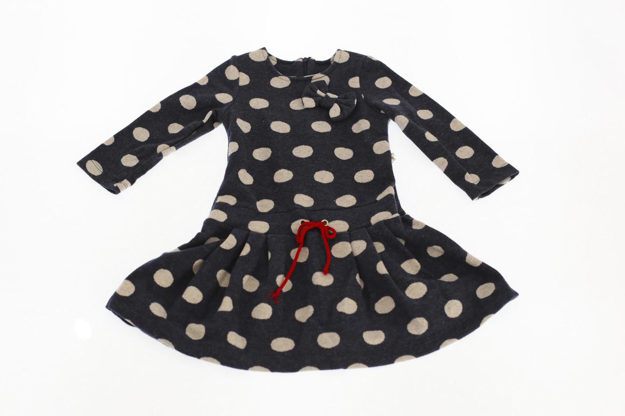 Платье флис Горошек