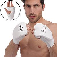 Накладки (перчатки) для каратэ Zelart ZB-6128 (PL, хлопок, эластан, р-р L-XL, белый)