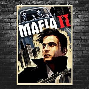 "Постер ""Мафия 2. Плакат №2"". Mafia II. Размер 60x42см (A2). Глянцевая бумага"