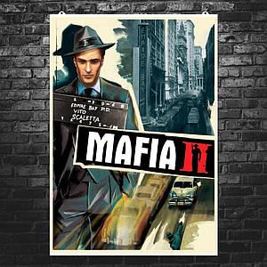 "Постер ""Мафия 2. Vito Scarletta. Улица Эмпайр-Бэй"". Mafia II. Размер 60x42см (A2). Глянцевая бумага"
