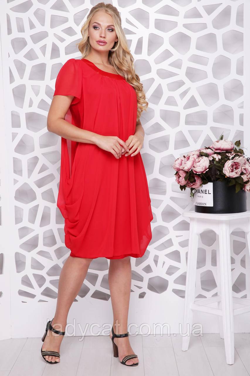 """Платье """"Нежность""""красный"""
