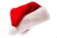 Меховая Новогодняя Шапка Деда Мороза - Красный Колпак Санта Клауса - Полностью Меховой для взрослых!