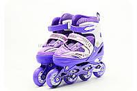 Роликовые коньки, размер 34-37 М Фиолетовый (1002), фото 1
