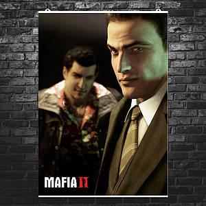 "Постер ""Мафия 2. Vito Scarletta с другом"". Mafia II. Размер 60x42см (A2). Глянцевая бумага"