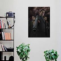 """Постер """"Мафия 2. Вито и пистолет крупным планом"""". Mafia II. Размер 60x43см (A2). Глянцевая бумага, фото 3"""