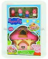 Детский игровой набор «Домик Свинки Пеппы» (4 фигурки, мебель) XZ-379, фото 1