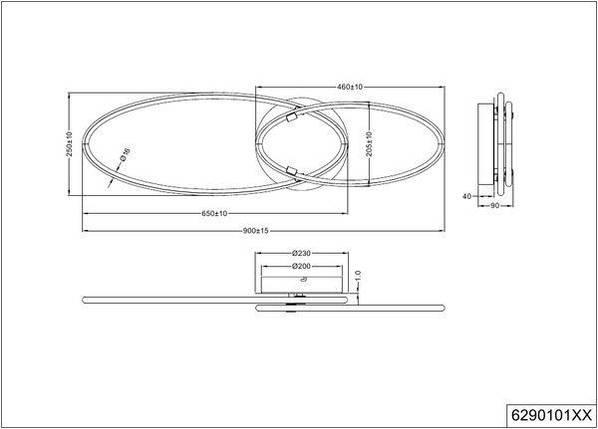 Потолочный светильник Trio Avus 629010107, фото 2