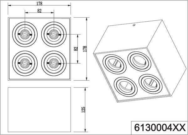 Точечный светильник Trio Biscuit 613000432, фото 2