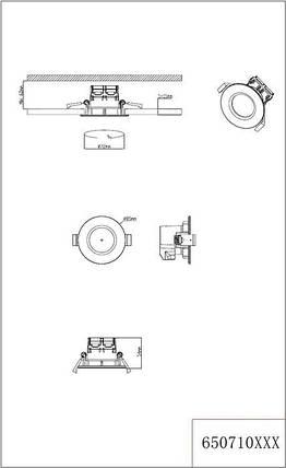 Точечный светильник Trio Zagros 650710331, фото 2