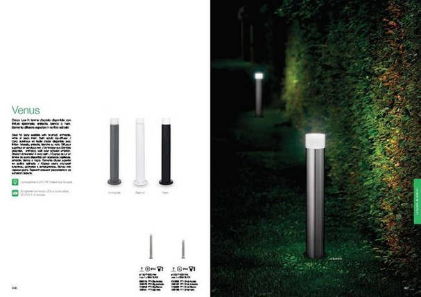Уличный светильник IDEAL LUX VENUS PT1 SMALL 010892, фото 2