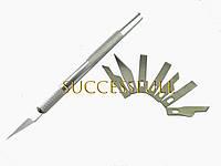 Набор ножей для резьбы по дереву 9 сменных ножей, фото 1