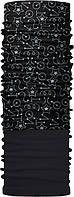 Зимовий бафф Бандана-трансформер двошаровий Чорний з сірим ZBT-2f-088, КОД: 132008