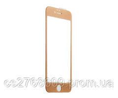 Защитное стекло / Захисне скло iPhone 6 Plus, Iphone 6S Plus золотий 4D без упаковки
