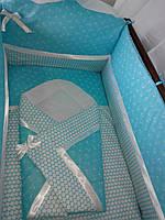 """Детское постельное белье в кроватку + Конверт на выписку-""""Морячек"""", фото 1"""