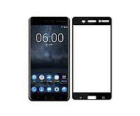 Защитное стекло захисне скло Nokia 6 2018, N6 чорний 6D Full