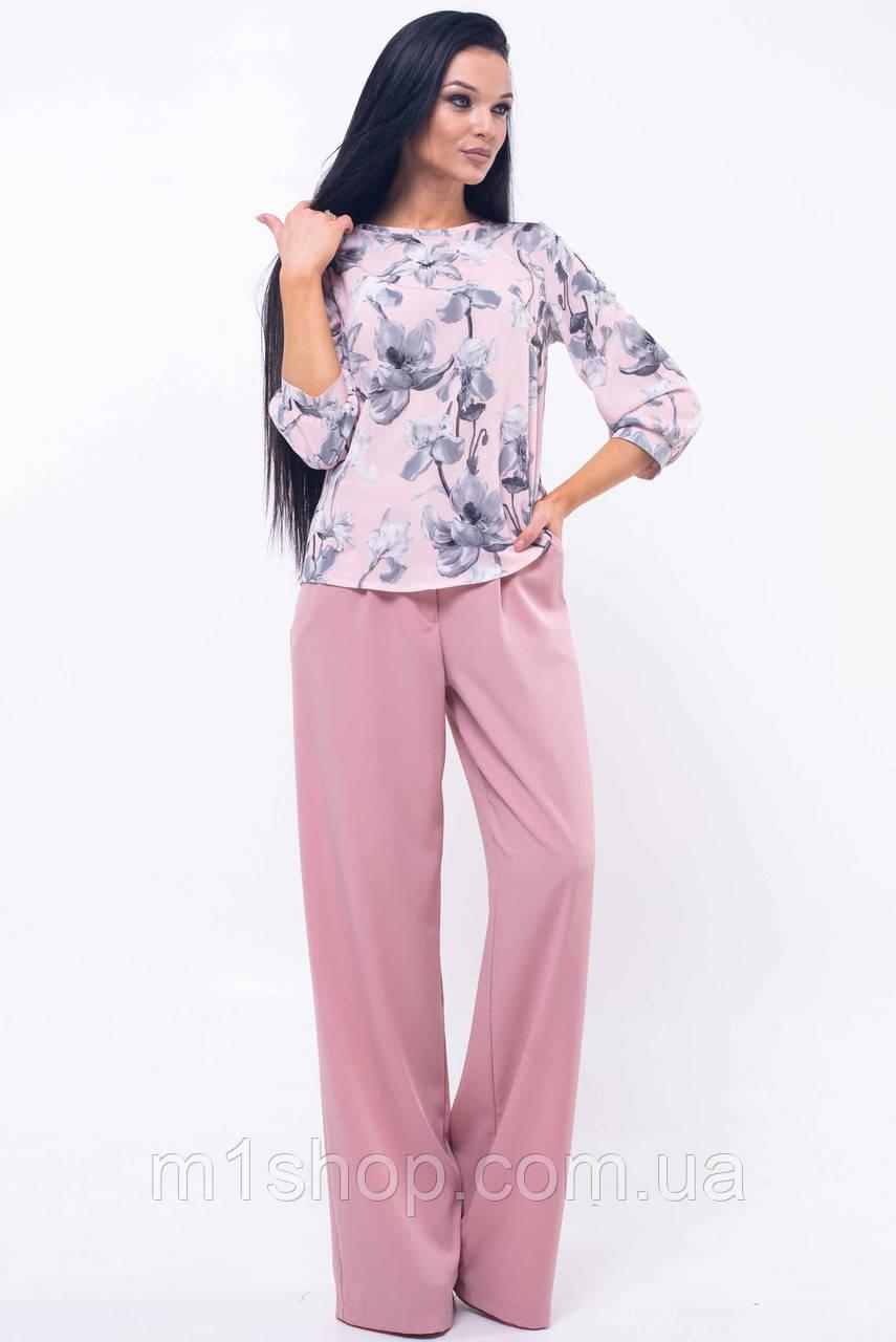 Женский брючный костюм с блузкой (Мирей ri)