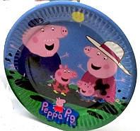 Тарелка праздничная Свинка Пеппа Джорж  и семья