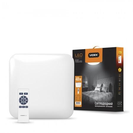 LED светильник функциональный квадратный  VIDEX 48W 2800-6000K  220V (4шт/ящ)