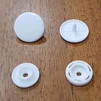Кнопка пластиковая 15мм Белая К (50шт.)