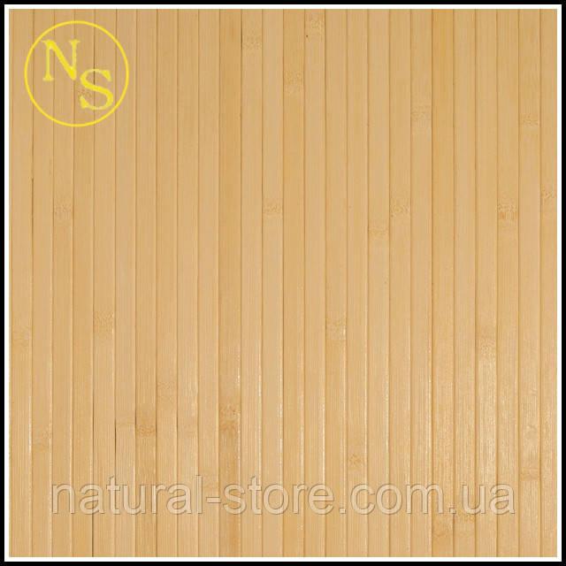 Бамбуковые обои светлые 150см - ширина планки 12мм TM Safari