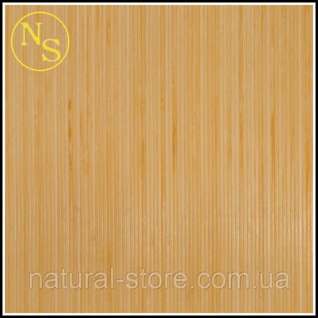 Бамбуковые обои лак светлые 200см - планка 5мм TM Safari