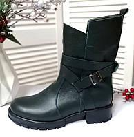 Жіночі зелені черевики на платформі, фото 1