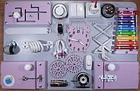 Бизиборд BusyBliss Сіро-фіолетовий 40х60 см, фото 1