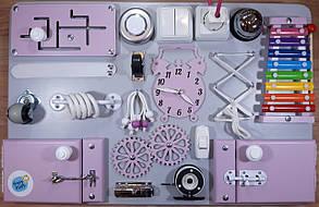 Бизиборд BusyBliss Сіро-фіолетовий 40х60 см