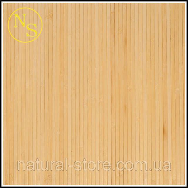 Бамбуковые обои светлые 250см - ширина планки 8мм TM Safari