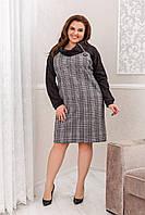"""Платье женское шерстяной трикотаж+ ангора софт Батал (50-56) """"Gabriela"""" LM-1037-1046, фото 1"""