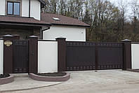 Ворота распашные 4000×2000 и калитка 1000×2000  ТМ Хардвик (дизайн ЛЮКС), фото 2