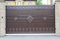 Ворота раздвижные ТМ HARDWICK 4000×2000 и калитка 1000×2000 (дизайн Люкс), фото 2