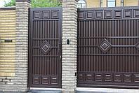 Ворота раздвижные ТМ HARDWICK 4000×2000 и калитка 1000×2000 (дизайн Люкс), фото 3