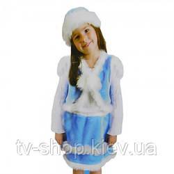 Костюм карнавальний хутряний Снігуронька