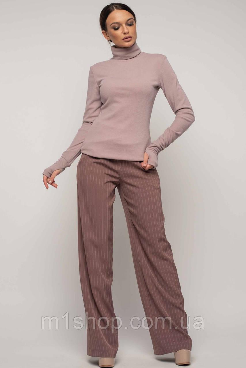 Женский костюм с широкими брюками и гольфом (Бэйс-Лонг-Шер ri)