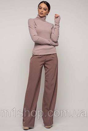 Женский костюм с широкими брюками и гольфом (Бэйс-Лонг-Шер ri), фото 2